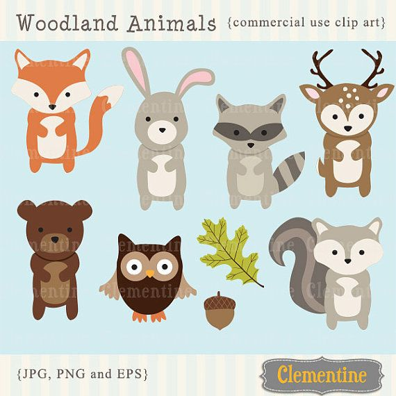 Animals clip art images. Woodland clipart standing