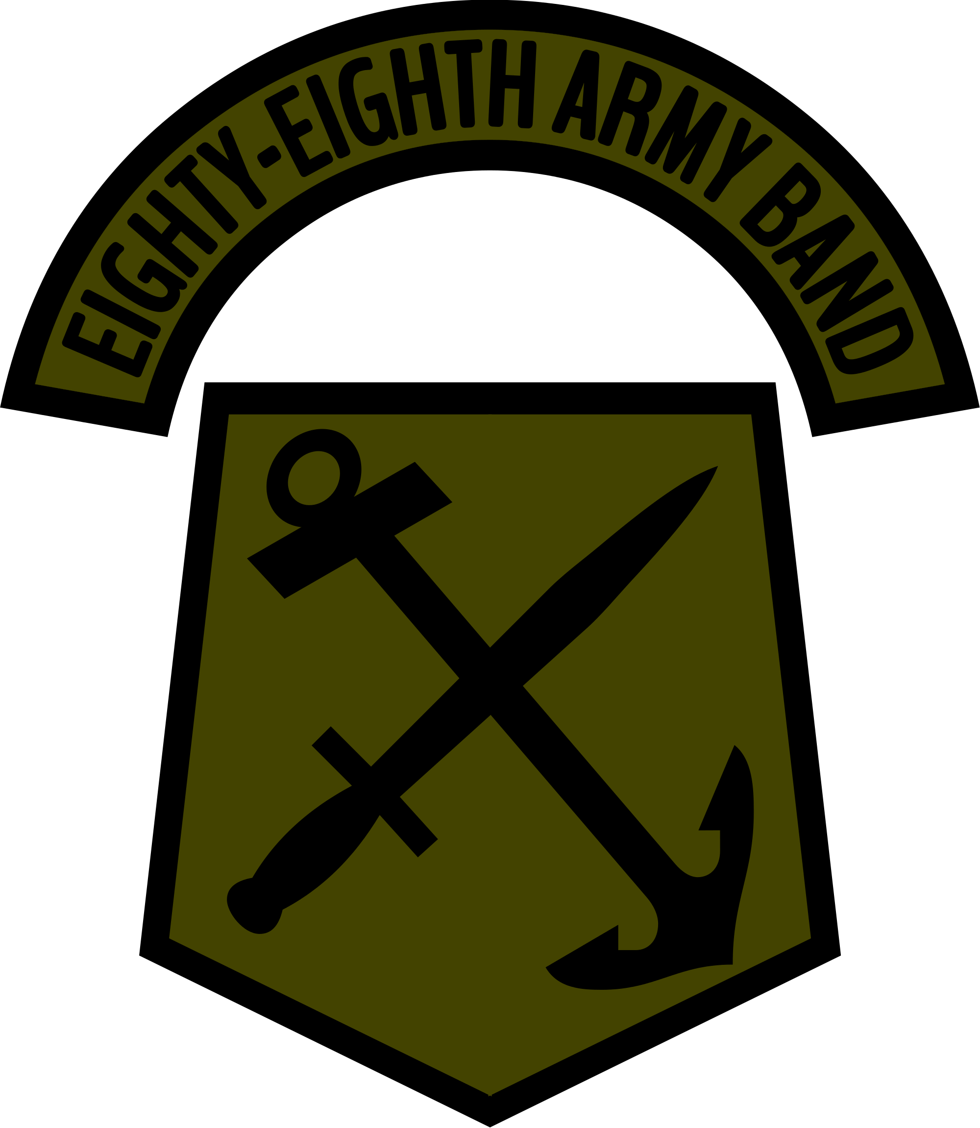 Woodland clipart svg. File us army eighty