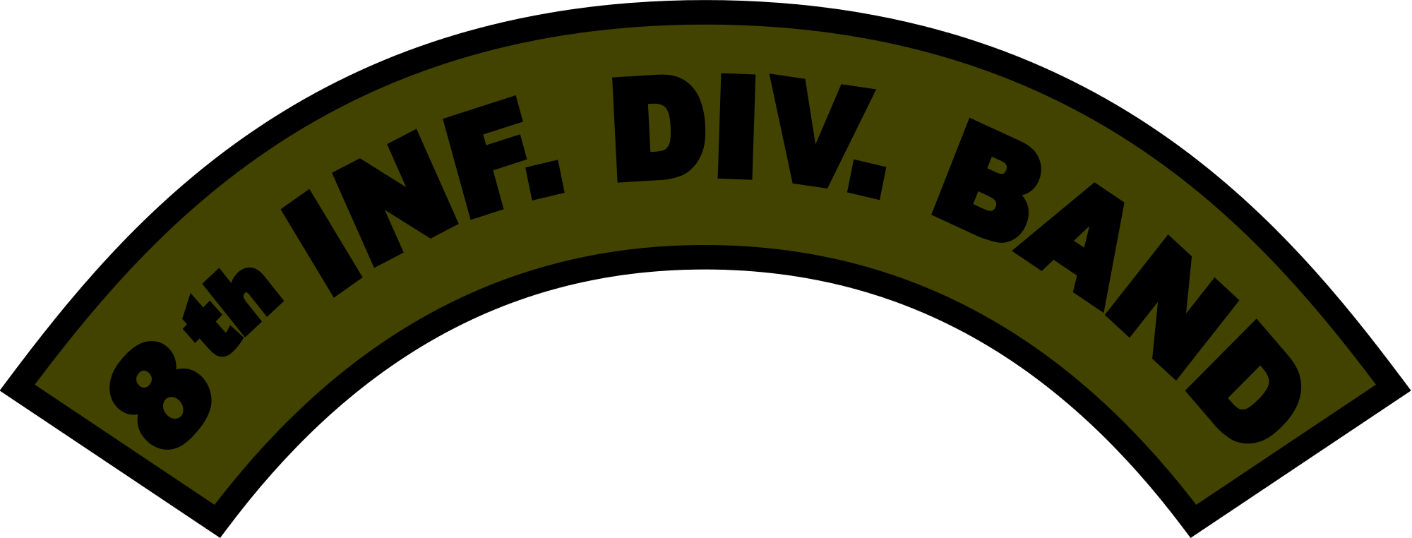 File us army eighth. Woodland clipart svg
