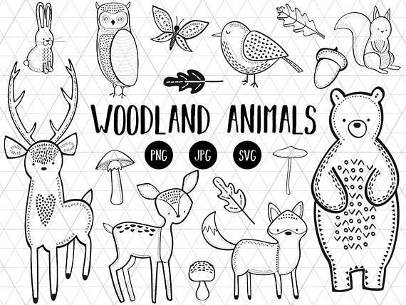 Woodland clipart svg. Animals download
