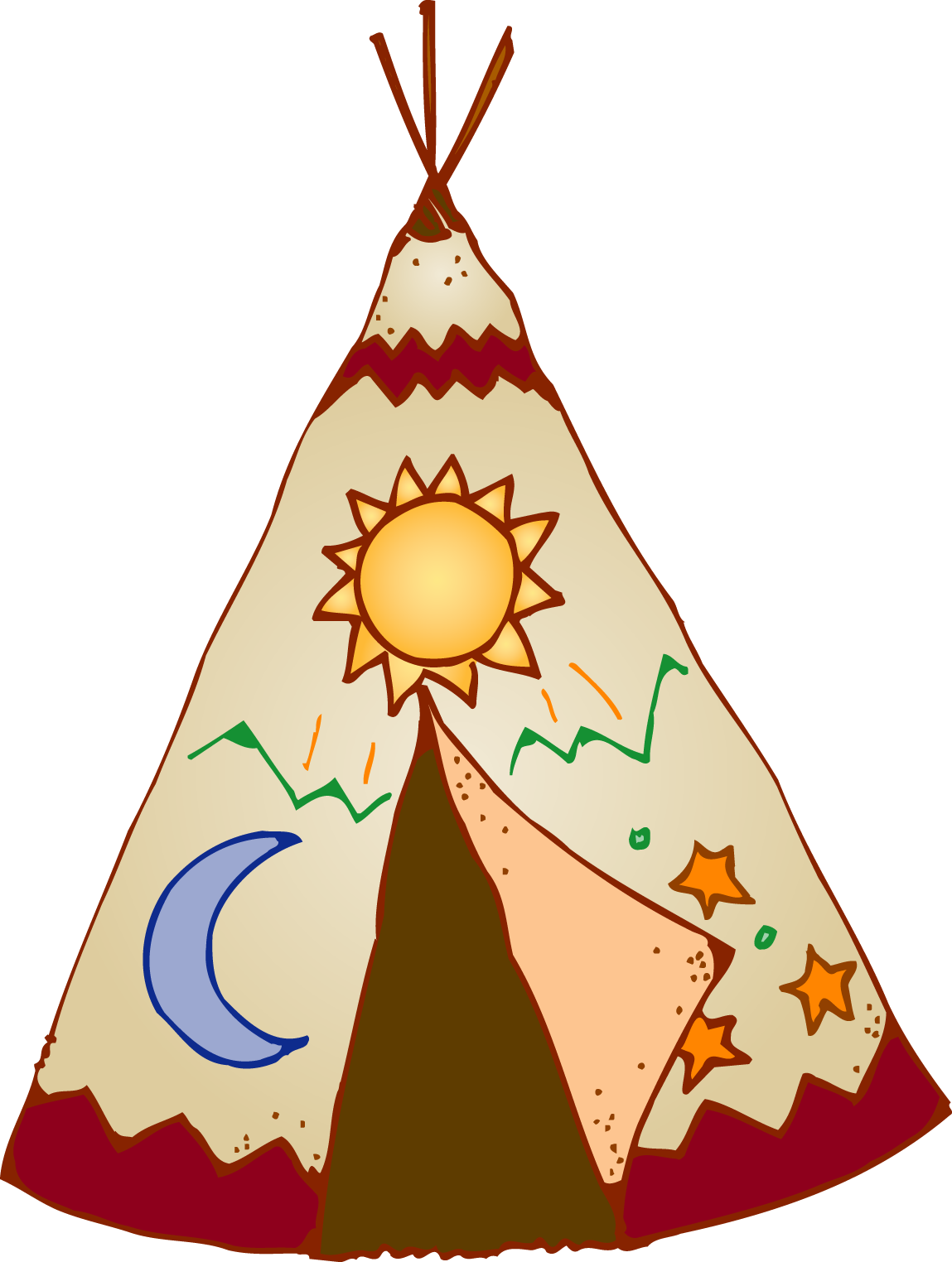 collection of native. Woodland clipart teepee