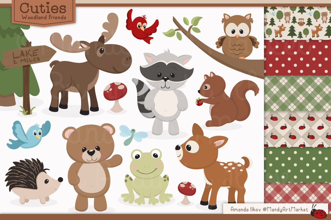 Woodland clipart template. Free cliparts download clip