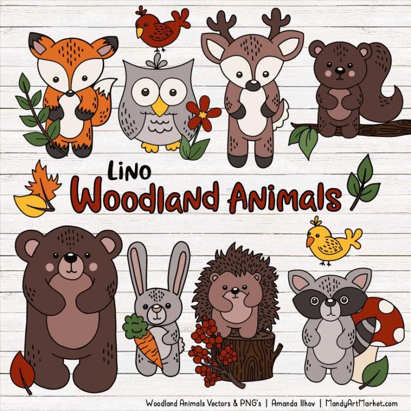 Free animals vectors mandy. Woodland clipart vector