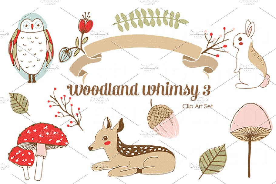 Woodland clipart whimsical woodland. Whimsy png clip art