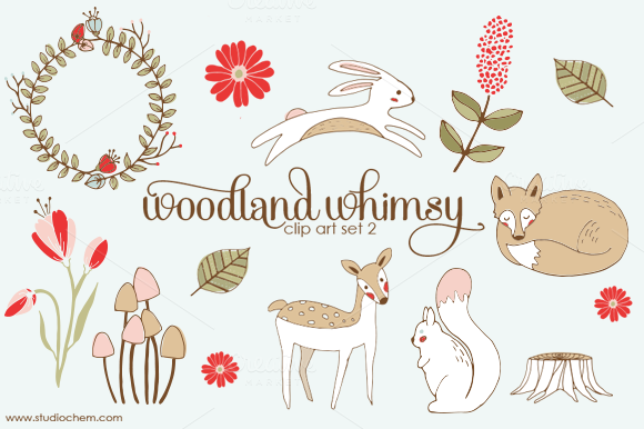 Woodland clipart whimsical woodland. Free cliparts download clip