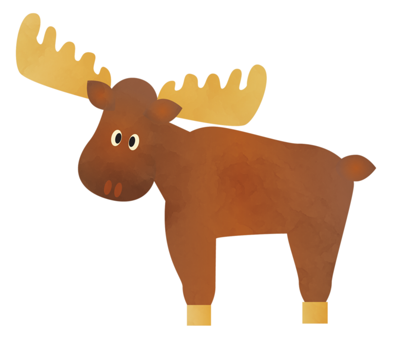Moose png pinterest critters. Woodland clipart woodland critter
