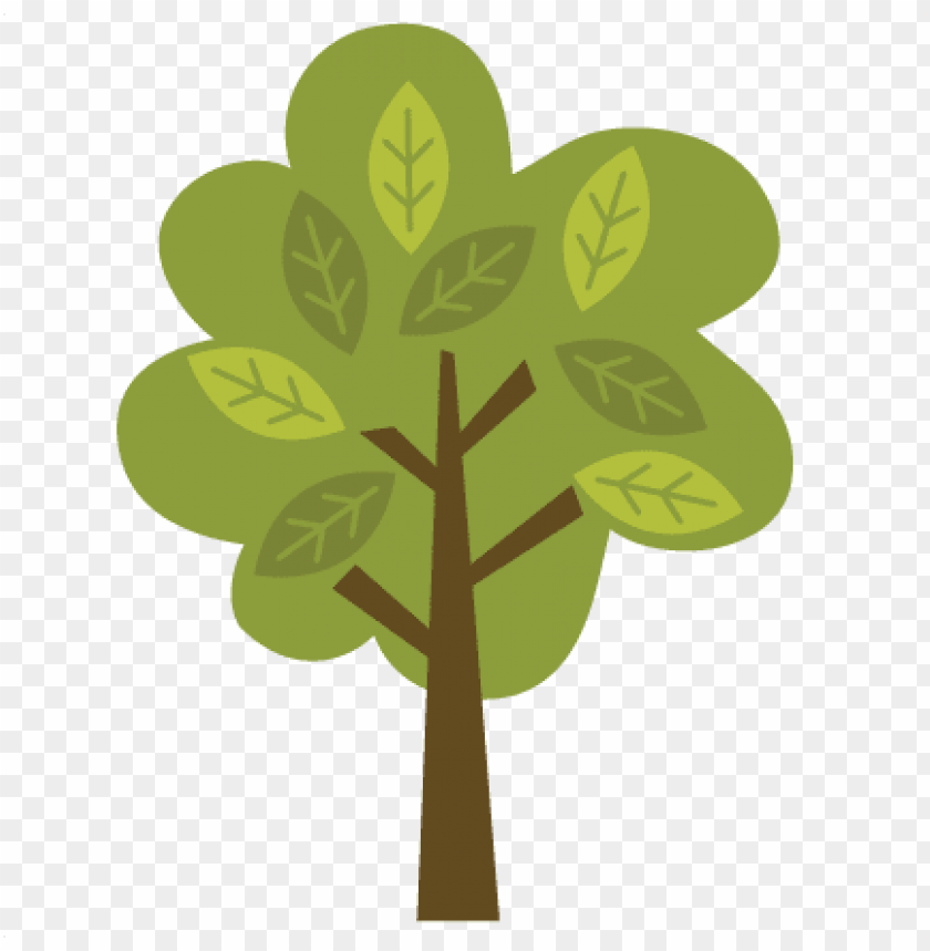 With leaves svg file. Woodland clipart woodland tree