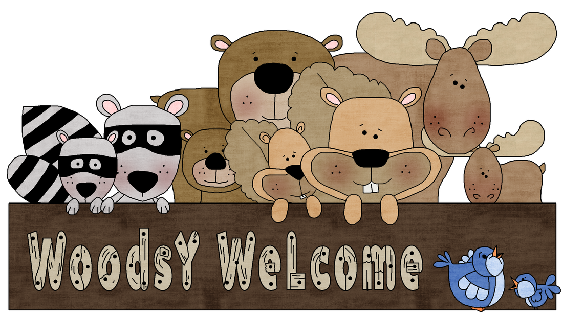 Welcome a great big. Woodland clipart woodsy