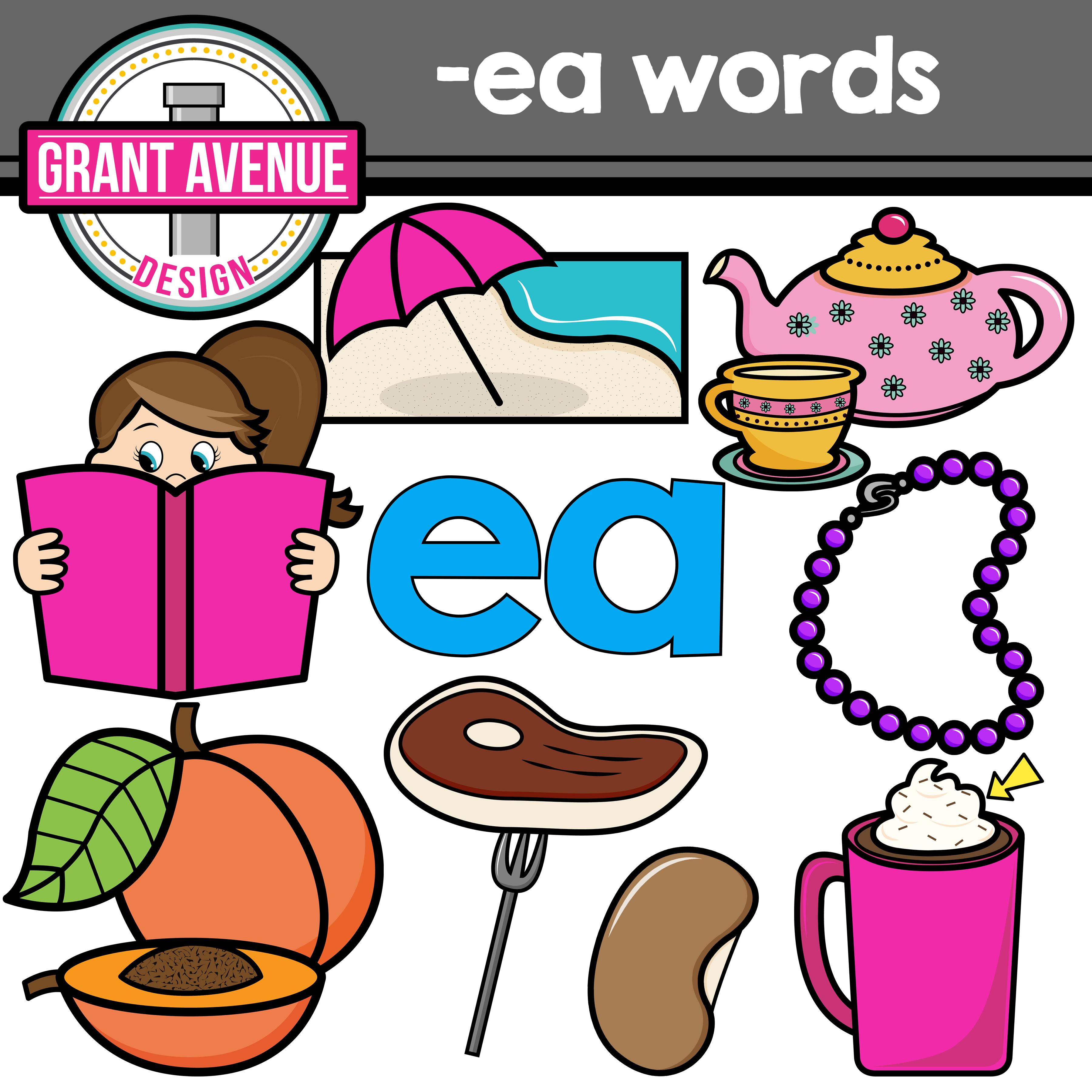 Words clipart. Grant avenue design vowel