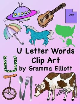 Words clipart. Letter u clip art