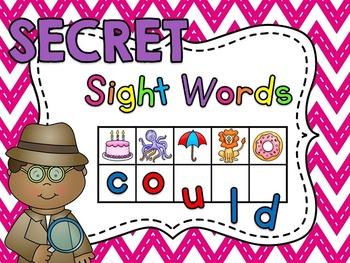 Words clipart activity. Secret sight centers