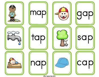 Ap word family cvc. Words clipart activity