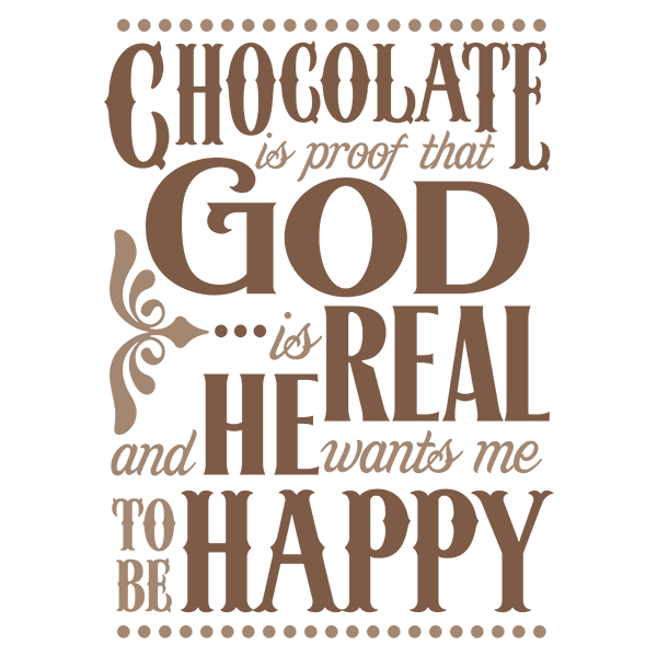 Words clipart chocolate. Printable file available at
