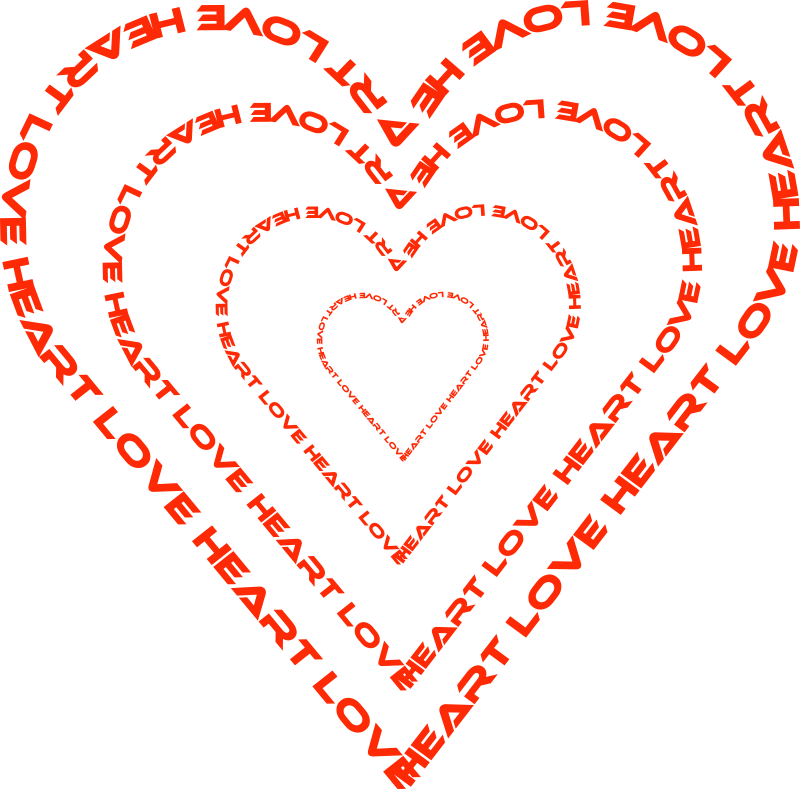A heart done by. Words clipart clip art