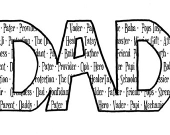 Word cliparts zone . Words clipart dad