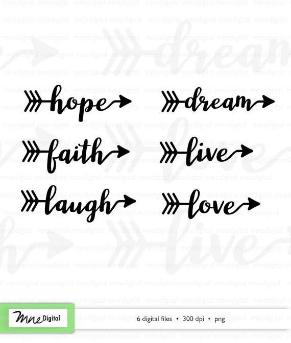 Digital arrow png hope. Words clipart dream