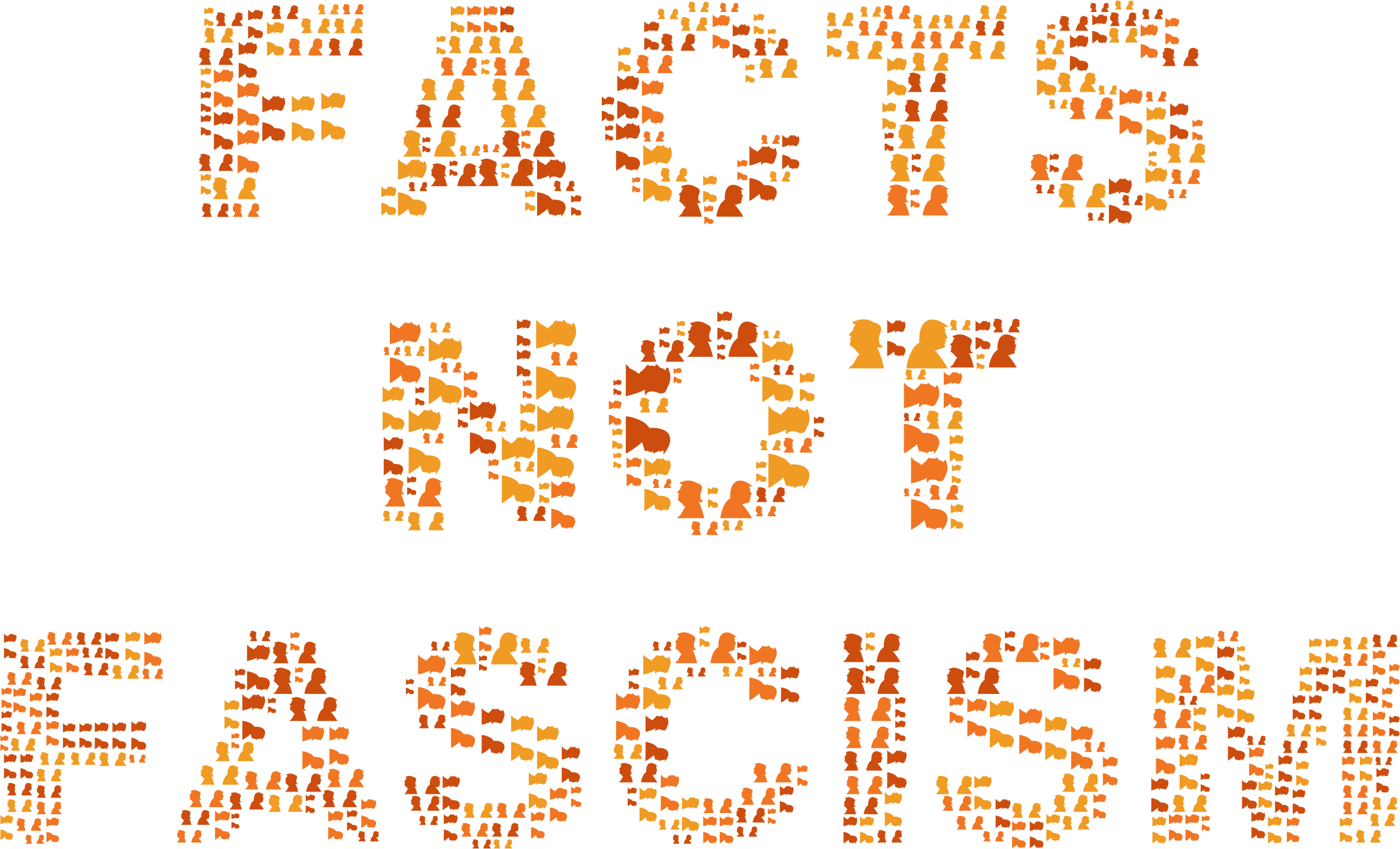 Facts not fascism no. Words clipart fact