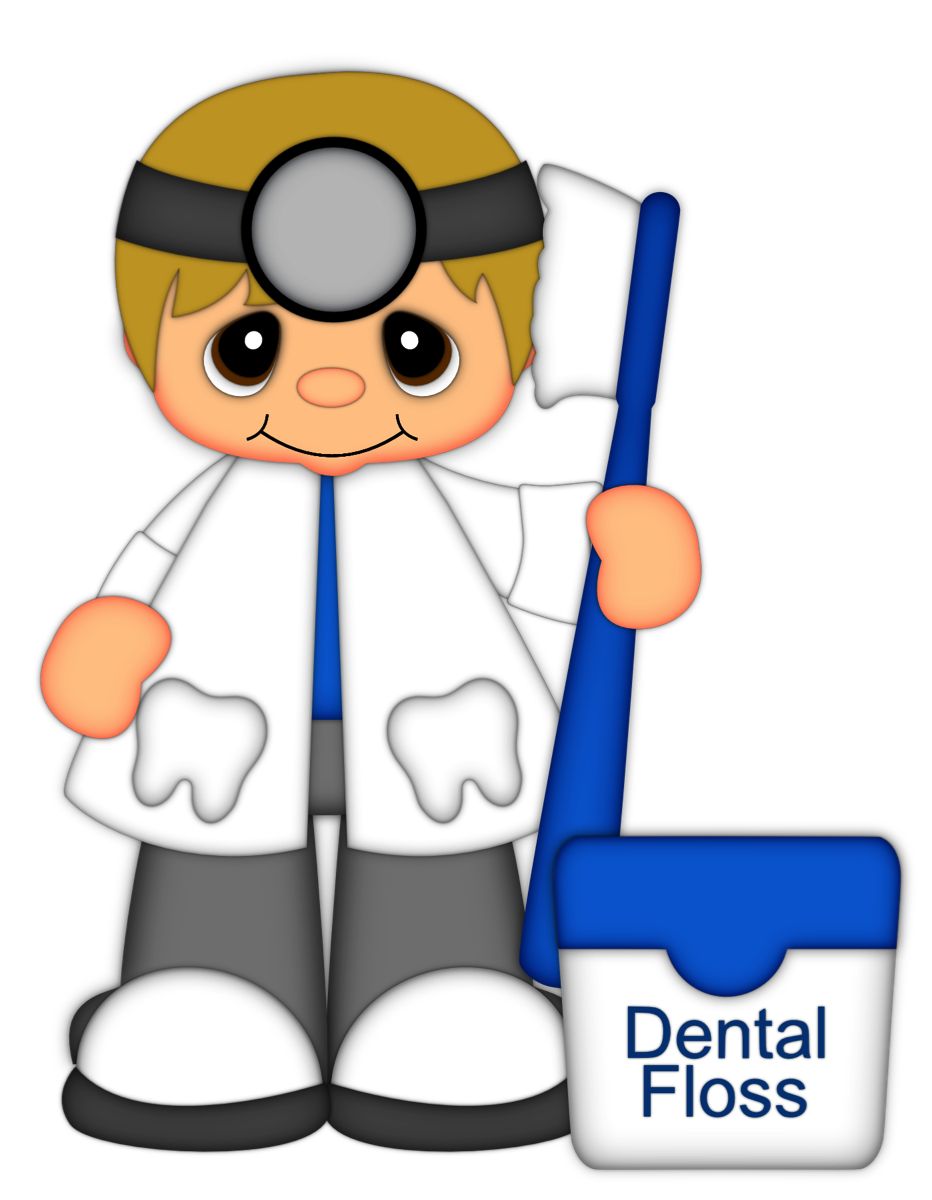 Dentist boy from scrap. Words clipart factory