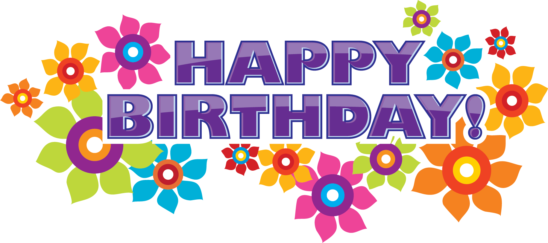 Words clipart happiness. Word of happy birthday