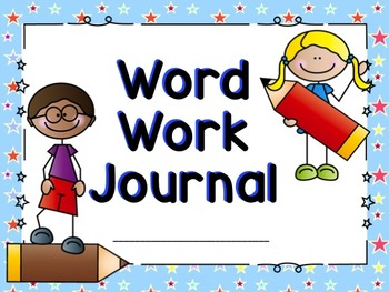 Words clipart journal. Word work practice worksheets