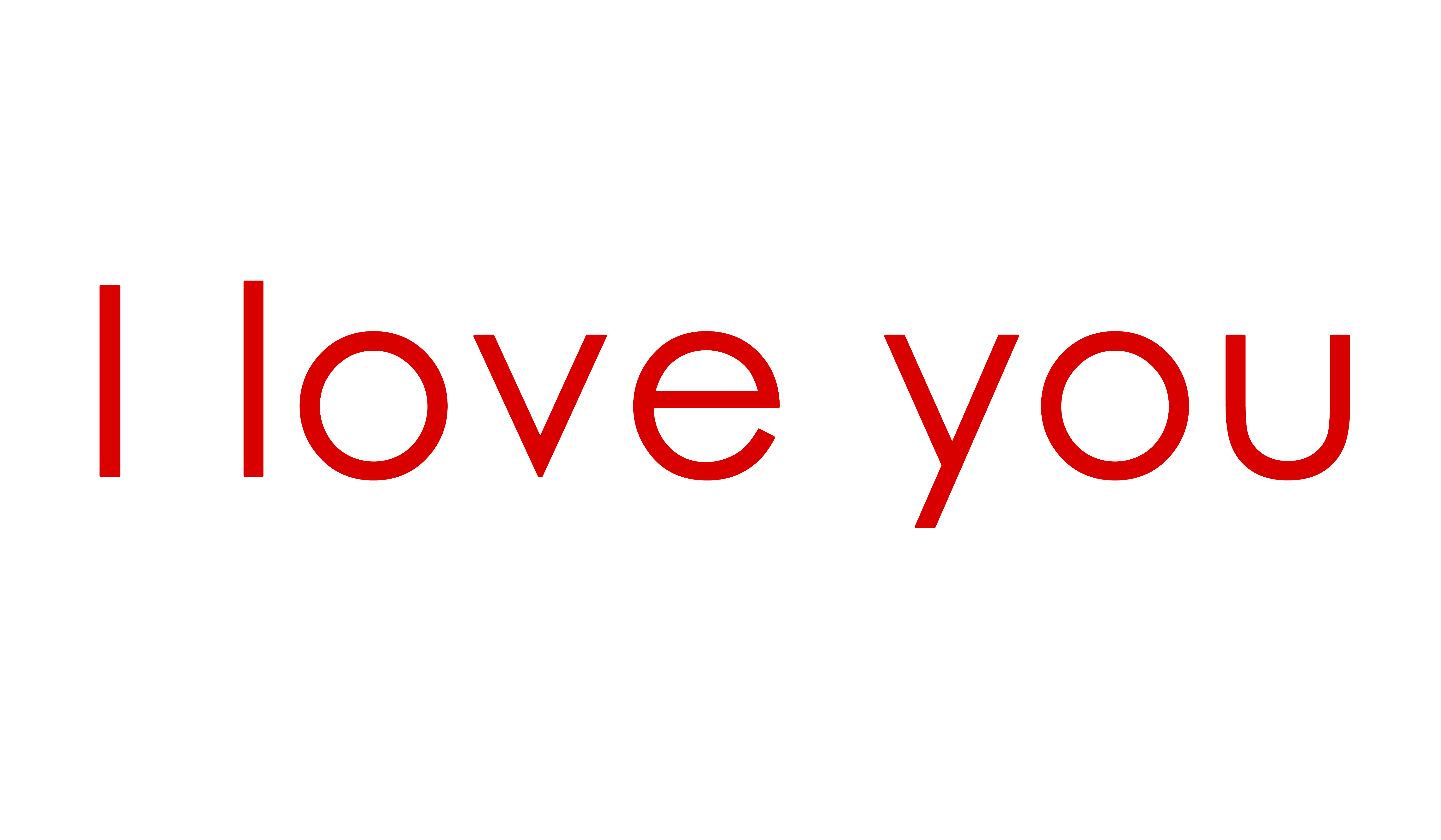 I you png download. Words clipart love