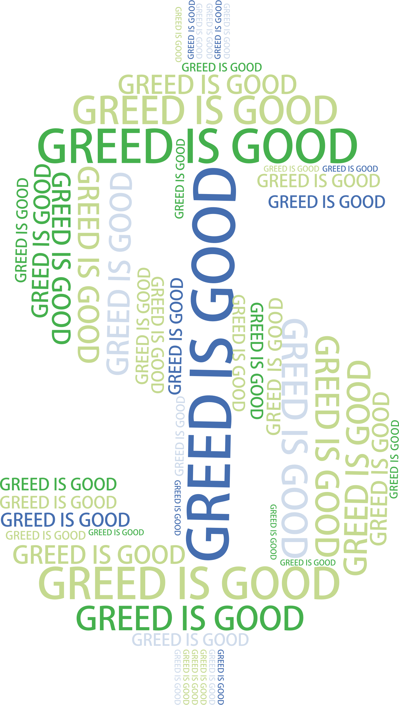 Words clipart money. Greed word cloud no