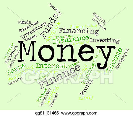 Stock illustration word means. Words clipart money