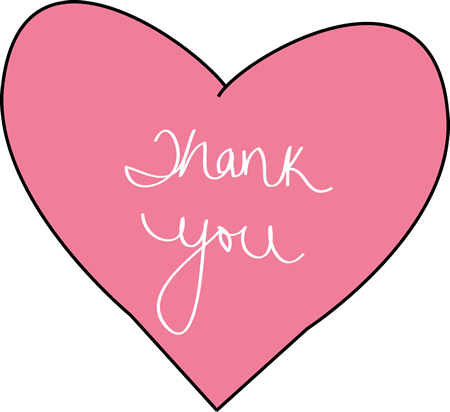 Words clipart pink. Thank you clip art