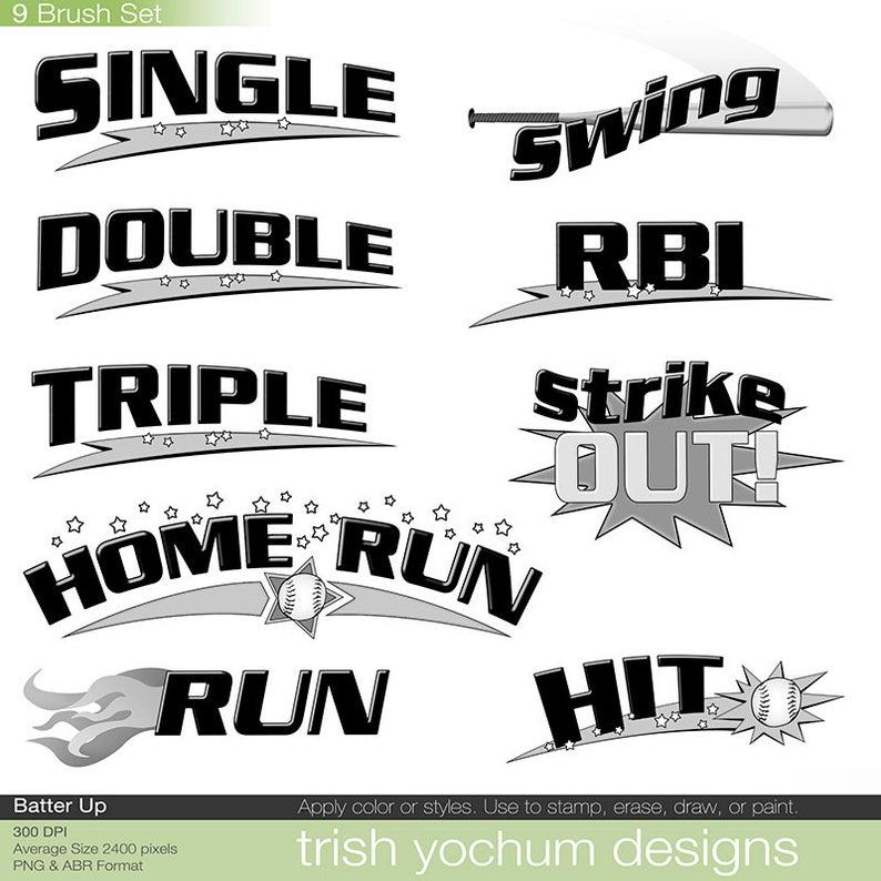 Words clipart softball. Baseball clip art word