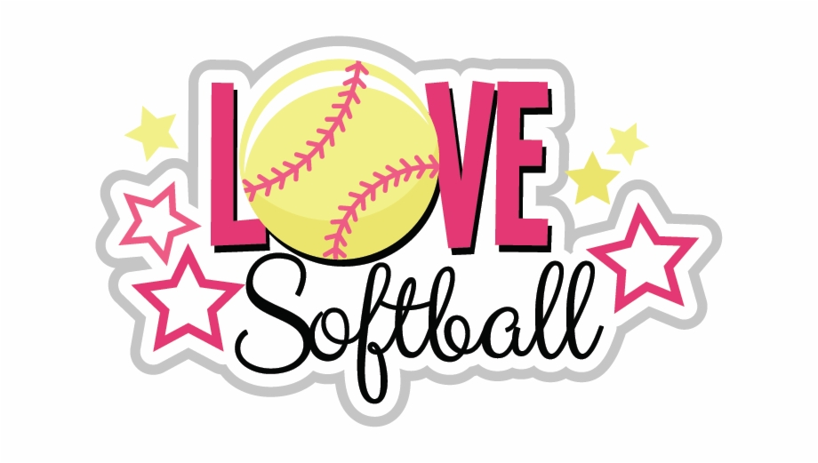 Love free png images. Words clipart softball