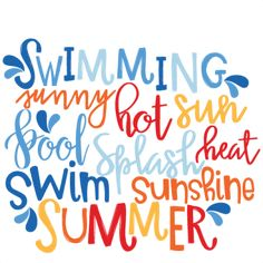 best pool images. Words clipart swimming