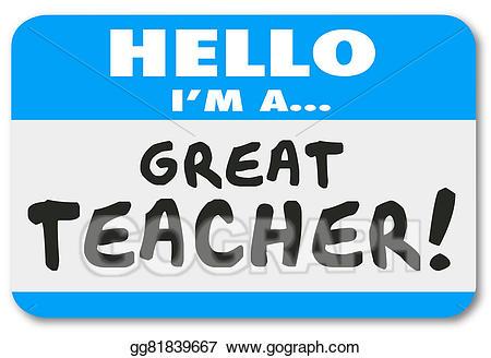 Stock illustration i m. Words clipart teacher