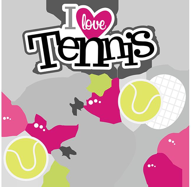 I love svg scrapbook. Words clipart tennis