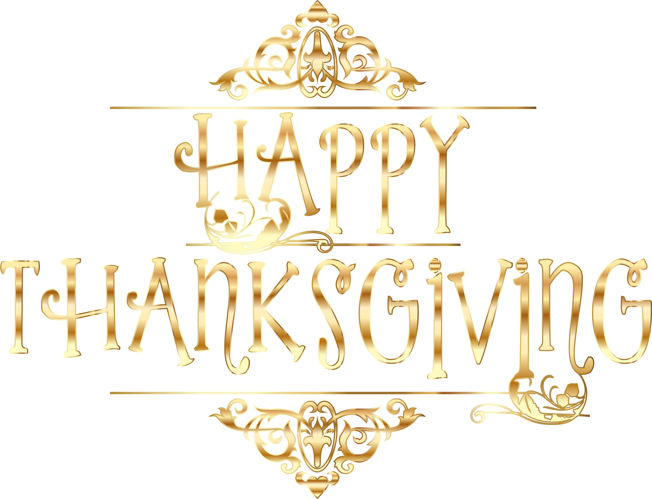 Words clipart thanksgiving. Gold happy typography no