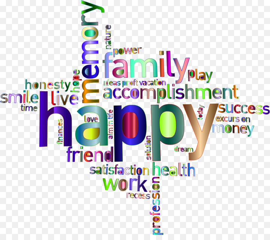 Words clipart transparent. Happy family word