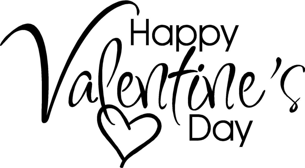 Words clipart valentines. Happy day letters sticker