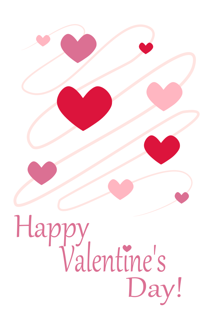 Free st valentine day. Words clipart valentines
