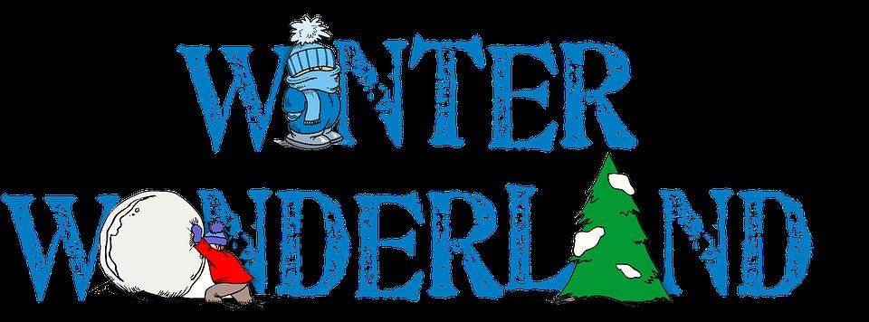Words clipart winter. Wonderland group free illustration