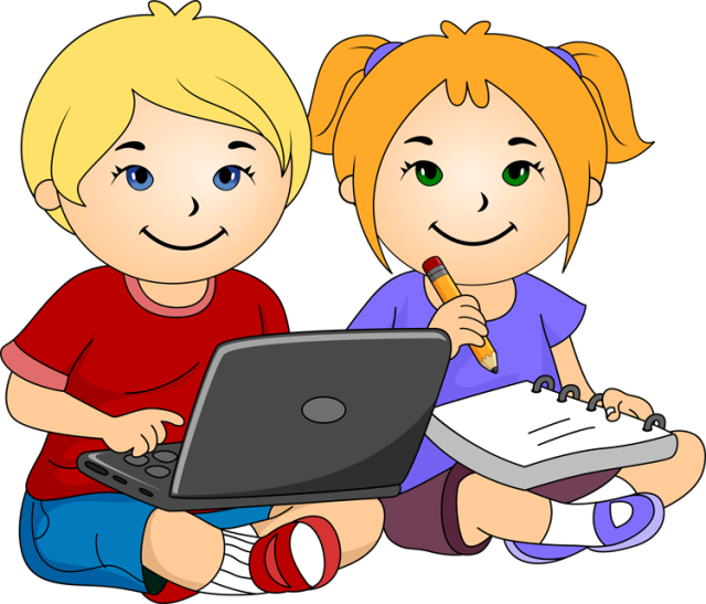Working clipart boy. School and girl with