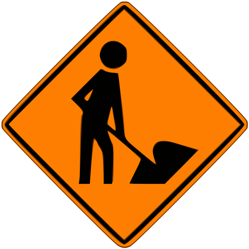 Working clipart building work. New udot under construction