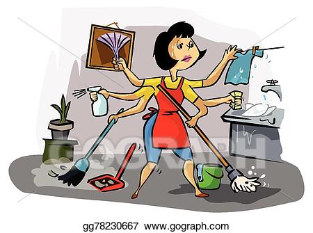 Working clipart busy. Eps vector mom stock