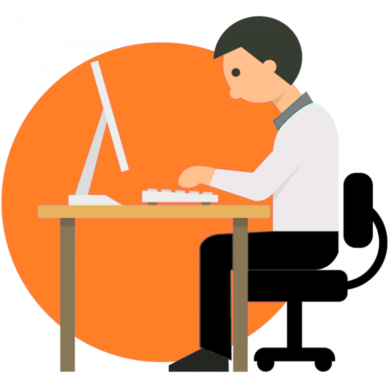 Reading computer illustration . Working clipart cartoon
