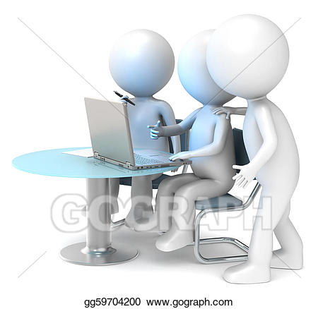 Working clipart colleague. Stock illustrations colleagues gg