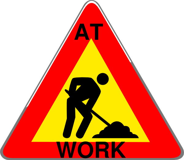 Working clipart construction. At work sign clip