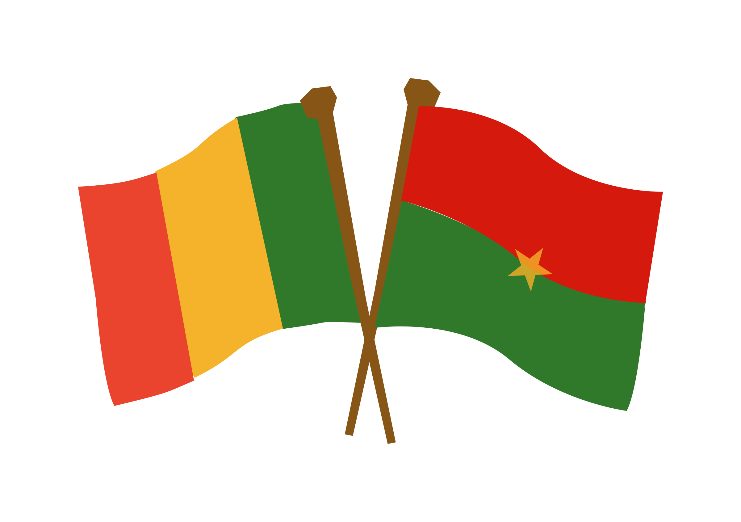 Burkina mali big image. Working clipart cooperation