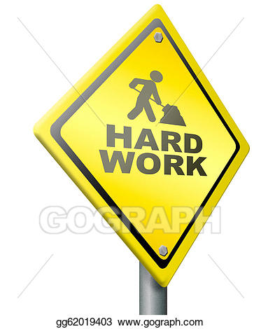 Working clipart difficult work. Hard stock illustration gg