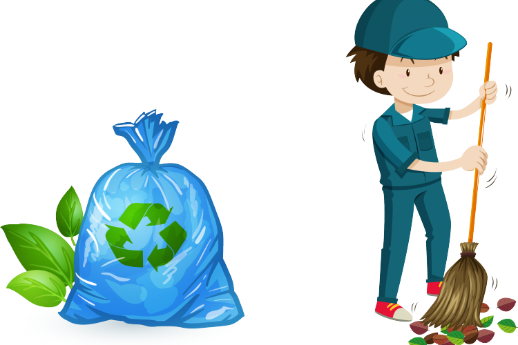 Waste clearance services in. Working clipart garden work