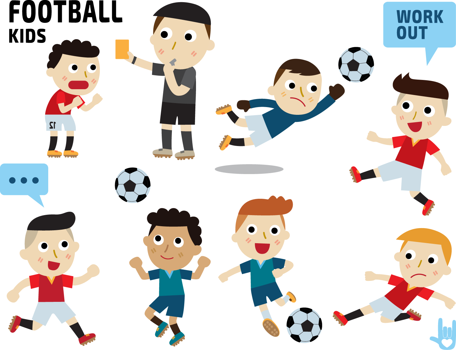 Cartoon referee illustration football. Working clipart group communication