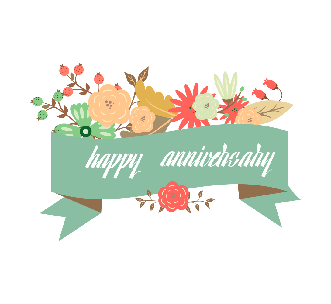 Working clipart happy anniversary. Wedding greeting card transprent