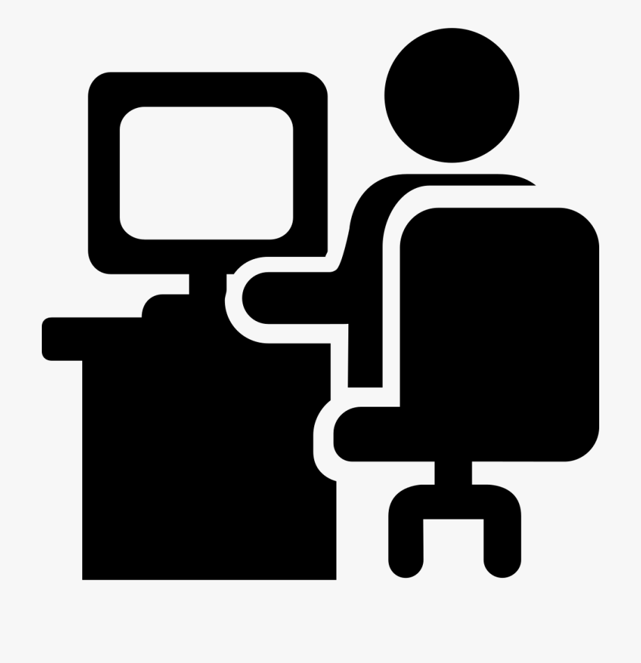 Person svg office on. Working clipart icon